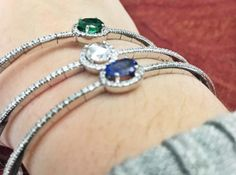 Gemstone bangles
