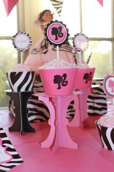 Vintage Barbie Silhouette Birthday party Birthday Party Ideas | Photo 1 of 20 | Catch My Party