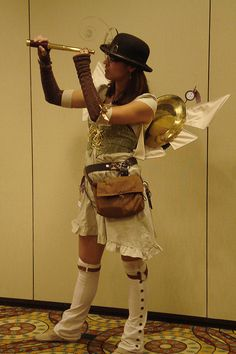 Steampunk - cool spats & wings http://www.flickr.com/photos/uminomamori/3945738269/