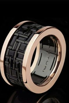 Canturi cubism ring. Rose gold a sapphires. Love love love