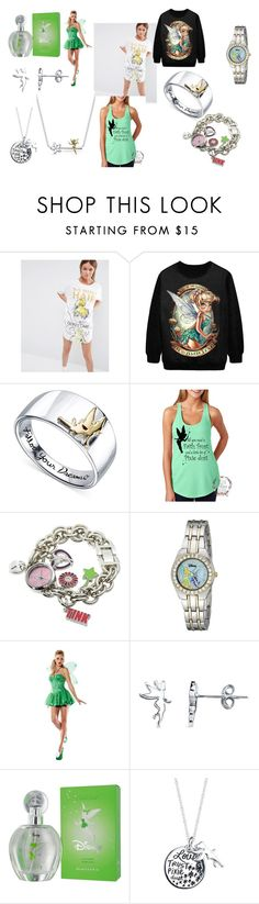"""""""Fangirl - Tink"""" by fangirl-irl on Polyvore featuring Missimo, Disney, Buy Seasons, Belk Silverworks, tinkerbell and fangirl"""