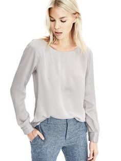 Long Sleeve Fold Cuff Shirt | Banana Republic