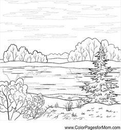 Landscape Village Grayscale Coloring Page 1795 Ultimate Coloring