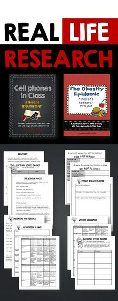 A bundle of two real life research projects designed to engage students while they learn important research skills