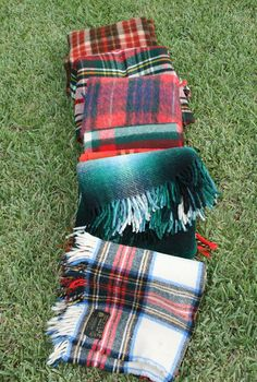 Puddles and Puddles of Plaid Scotland Plaid by BirdInTheChimney