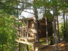 michael greenwood bespoke treehouse in canada via Gardenista