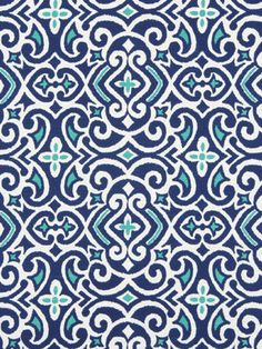Ikat Upholstery Fabric by the Yard -  Modern Teal Ikat Fabric -  Cobalt Blue Ikat Fabric on Etsy, $26.00