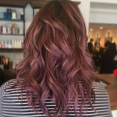 Dusty rose mauve for fall#mauvehair #rosegoldhair #hairbrained_official #modernsalon #kenra #b3 #balayage #paintedhair #hairpainting #fallhaircolor