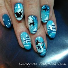 Jingle bells, jingle bells, jingle all the way. winter nails