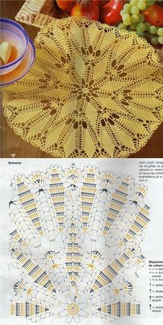 Learn to knit and Crochet with Jeanette: Crochet Doilies Filet Crochet, Crochet Diagram, Crochet Chart, Thread Crochet, Irish Crochet, Crochet Stitches, Crochet Doily Patterns, Crochet Motif, Crochet Doilies
