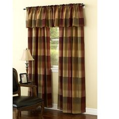 Printed Plaid Curtain Collection