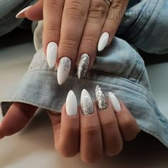 ads ads 43 White nail art designs – The Perfect manicure minimalist & Great with any outfit , simple white nail designs , white nail designs with diamonds, white nail… Diamond Nail Designs, Nail Art Designs, Pointed Nail Designs, Sparkle Nail Designs, White Nail Designs, Sparkle Nails, Prom Nails, My Nails, Homecoming Nails