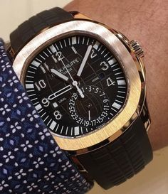 Patek Philippe Aquanaut Travel Time ref. 5164 in Rose Gold. Baselworld 2016