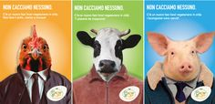 Campagna pubblicitaria Fast food Vegetariano.  #animals #campaign #food #illustrator #poster