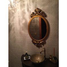 Espelho Decorativo Dourado Envelhecido 52x100cm