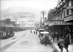 Courtenay Place, Wellington, Reference Number: Photographer: Sydney Charles Smith Original negative Find out more about this image from the Alexander Turnbull Library. Photographer Sydney, Old Photography, Kiwiana, Bays, Back In Time, Old Photos, 1920s, New Zealand, Nostalgia