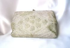 Elegant Vintage Beaded Wedding Handbag at ThatchandSloane on Etsy.com.