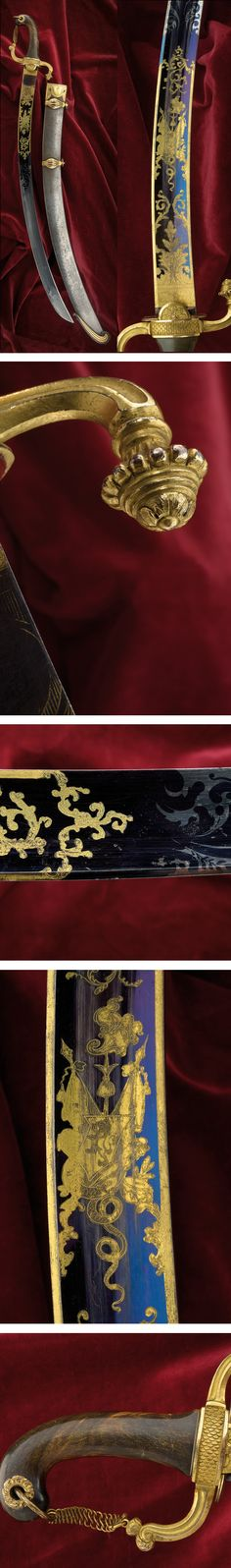 An extraordinary light cavalry officers napoleonic epoch sabre: provenance: England dating: circa 1800