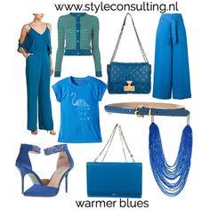 Welke kleur blauw moet jij kiezen? | Style Consulting Color Me Beautiful, Warm Spring, Fashion Colours, Spring Colors, Capsule Wardrobe, Spring Summer Fashion, Yellow, Blue, Clothing