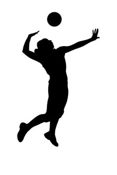 silhouette volleyball girl - Google Search