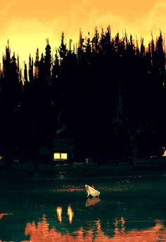 pascal campion: River bank in yellow.