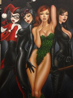 Mimi Yoon SIGNED Bad Girls Harley Ivy DC Giclee on Canvas Limited Ed of 100