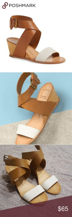 Cute sandals Super cute sandal wedges that can be dressed up and down.  Soles and shoe have some marks but no actual wear. Dolce Vita Shoes