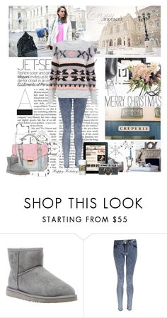 """""""Merry Christmas to all."""" by nikii ❤ liked on Polyvore featuring New Look, UGG Australia, Boohoo and Miss Selfridge"""