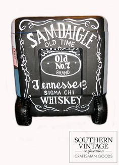 Custom Hand Painted Cooler by SouthernVintageInc on Etsy, $250.00