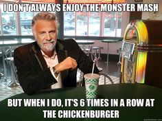 i don't always believe in fitness but when i do, i'm fit'ness whole chickenburger shake in my mouth - The Most Interesting Man In The Chickenburger I Don't Always, Always Believe, Quick Meme, Create Your Own Image, Neon Glow, My Mouth, Fish And Chips, Fit S, Classic Rock