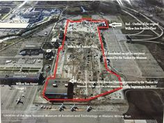Most of Willow Run has been demolished. Lower left will be new National Museum of Aviation and Technology in Ypsilanti Michigan, Passenger Aircraft, Epic Story, New Museum, Us Air Force, Ford Motor Company, National Museum, Wwii, Aviation