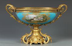 Sevres Center Piece w/Gilt Bronze Mounts   Cottone Auctions