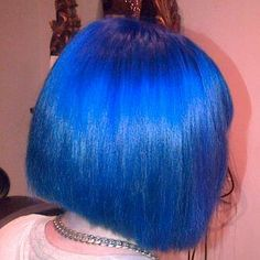 A Blue Restyle Cut And Colour Done By Maxine x