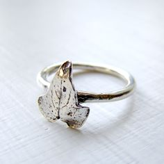 Delicate Sterling Silver Ivy Ring by OneLoomStudio on Etsy