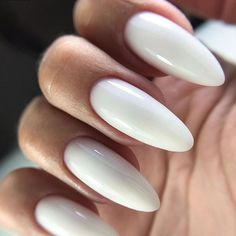 Blue Wedding Nails, Wedding Nails Design, Almond Shape Nails, Almond Nails, White Nails, Pink Nails, Nail Ring, Minimalist Nails, Bright Nails