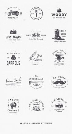 New Vintage Logo Inspiration Graphics Ideas Great Logo Design, Graphisches Design, Logo Branding, Branding Design, Brand Identity, Logos Online, Inspiration Logo Design, Logo Simple, Typographie Logo