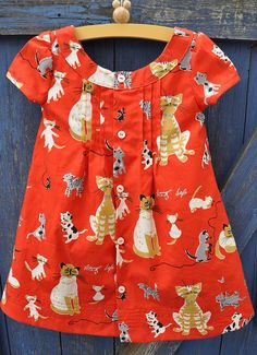 O + s Family Reunion Dress in cat fabric
