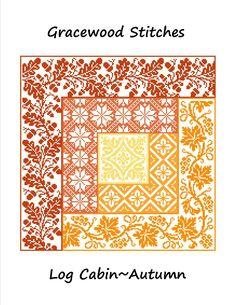 Log Cabin~Autumn Cross Stitch Pattern gracewoodstitches.com