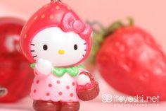 "itoyoshi: ""itoyoshi's Gotochi Kitty collection NO.754 Tokai Area・Shizuoka prefecture Limited Strawberry Hello Kitty special photo by naoko miike """