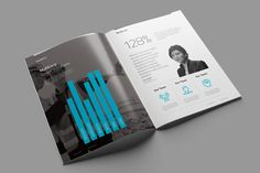 Multicorp Template: A multi purpose corporate 24 page Indesign print template to present text and infographics in a clean and modern way. Completely adjustable to your brand including alternative light and dark cover options.