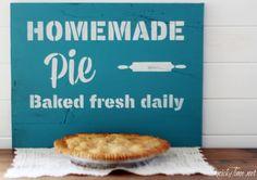 fresh pie sign