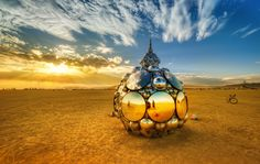 Burning Man - Annual festival of art that takes place n the Black Rock Desert (Nevada). Photo by Trey Ratcliff