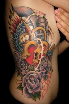 heart locket with key tattoo - Google Search