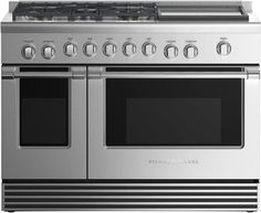 7 Best 48-Inch Dual Fuel Ranges of 2019 48 Inch Range, Ranger, Dual Oven, Built In Grill, Oven Range, Cookware Set, Fisher, Stainless Steel, Design