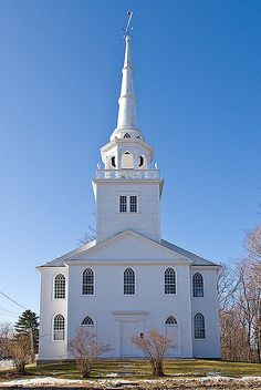 Old Baptist Meeting House in Yarmouth, Maine by D2Gallery, via Flickr