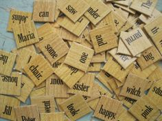 Vintage  Group of 100 Game Tiles/Pieces  WORDS by ShaneLilyRain, $7.00