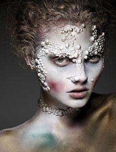 maquillaje barroco pasarela