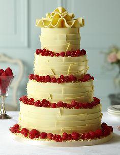 White Chocolate Ribbons Wedding Cake Cakes