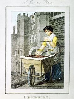 Selling cherries near the gates of St. James's Palace