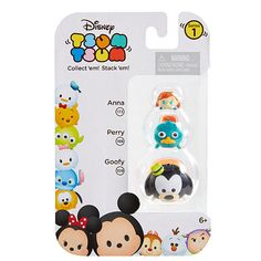 "Disney Tsum Tsum 3 Pack Figures - Goofy, Perry Platypus and Anna. Series 1 - Jakks HK Ltd. - Toys ""R"" Us"